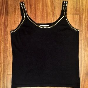 Michael Kors Studded Black Tank Top
